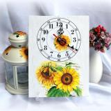 Ceas pe panza floarea soarelui - 8701 - Ceas de perete