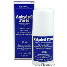Antiperspirant Alta Marca Anhydrol Roll-On - Tratament Transpiratie Excesiva - 60ml