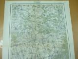 Fagaras Brasov Transilvania 1916 harta miitara color