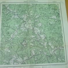 Bicaz Neamt Moldova Tulghes Harghita Transilvania 1916 harta militara color - Harta Romaniei