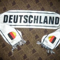 Esarfa a Echipei de Fotbal Nationala Germaniei, bilingv, matase, L=125cm - Fular fotbal, Germania