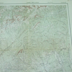 Tismana Gorj Oltenia Campul lui Neagu Hunedoara Transilvania 1916 harta militara - Harta Romaniei