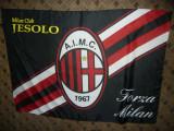 Steag Echipa de Fotbal A.C.Milan , matase , dim.= 142 x 95 cm, De club, AC Milan