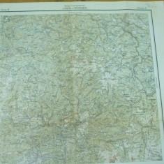 Ludus Mures Petrosani Hunedoara Transilvania harta militara color - Harta Romaniei