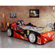 Pat copii masina Vaper - Pat tematic pentru copii, Alte dimensiuni, Rosu