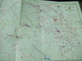 Suceava 1976  Moldova Bucovina harta judetului color