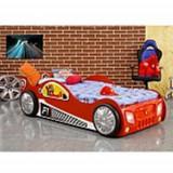 Pat copii masina Monza rosu