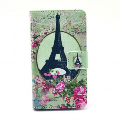 Husa NOKIA LUMIA 520 N520 portofel carte flip cu PARIS TURN EIFFEL - Husa Telefon OnePlus, Plastic