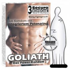 Prezervative Goliath pentru erectii prelungite, 3 bucati
