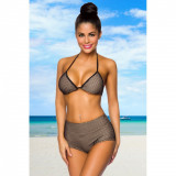Costum de baie Retro Bikini S negru/bej - Sex Shop Erotic24