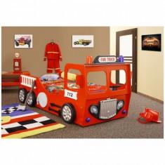 Pat copii masina de Pompieri - Pat tematic pentru copii Altele, Altele, Alte dimensiuni, Rosu