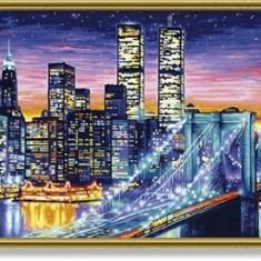 Schipper, pictura cu numere Manhattan noaptea