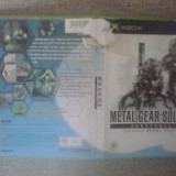 Metal Gear Solid 2 - Substance - Joc XBox classic