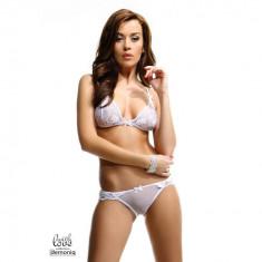 Set lenjerie intima Oliv S alb - Sex Shop Erotic24 - Lenjerie sexy femei