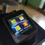 NOU! SmartWatch metalic : telefon camera pedometru bluetooth microsim