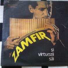 GHEORGHE ZAMFIR SI VIRTUOZII SAI DISC VINYL LP Muzica Populara electrecord FOLCLOR NAI, VINIL