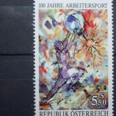 AUSTRIA 1992 – PICTURA SPORT, timbru nestampilat, B14
