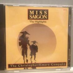 MISS SAIGON - THE HIGHLIGHTS -MUSICAL (1979/TRING REC/UK) - ORIGINAL/NOU/SIGILAT - Muzica soundtrack Altele, CD