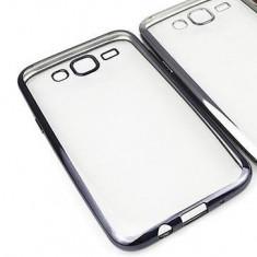 Husa Samsung Galaxy Grand Neo i9060 i9080 TPU Margine Grey - Husa Telefon Samsung, Transparent, Gel TPU, Fara snur, Carcasa