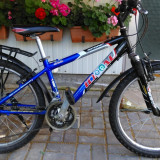 Bicicleta MTB Ideal Spark, import Germania - Mountain Bike, 14 inch, 24 inch, Numar viteze: 21