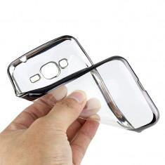 Husa Samsung Galaxy Grand Neo i9060 i9080 TPU Margine Silver - Husa Telefon Samsung, Transparent, Gel TPU, Fara snur, Carcasa