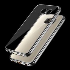 Husa Samsung Galaxy S6 Edge Plus TPU Margine Grey - Husa Telefon Samsung, Transparent, Gel TPU, Fara snur, Carcasa