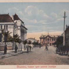 BUZAU, VEDERE SPRE PALATUL JUSTITIEI - Carte Postala Muntenia dupa 1918, Necirculata, Printata