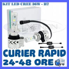 KIT LED CREE 36W GENERATIA 8 - H7, H8, H11, HB3, HB4 (3000LM) APRINDERE INSTANTA - Led auto BOORIN, Universal