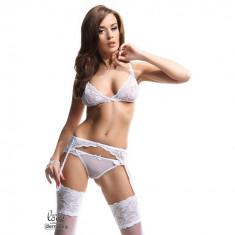 Set complet Lenjerie Sexy Sarah M alb - Sex Shop Erotic24 - Lenjerie sexy femei