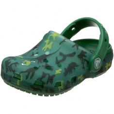 Papuci Crocs Translucent Clog Kids Dino Camo Burst/KellyGreen (Crc113117123 ) - Papuci copii Crocs, Marime: 21.5, 23.5, Culoare: Verde