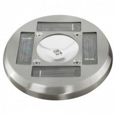 Decor solar LED Forma circulara din Otel-Inox