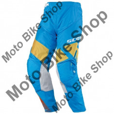 MBS Pantaloni motocross copii Scott 350 Race, albastru deschis/galben, 24, Cod Produs: 237567308724AU - Imbracaminte moto