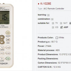 Telecomanda universala pentru aer conditionat 1000 in 1 - Telecomanda aer conditionat