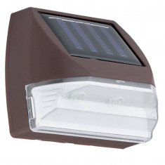 Aplica solar led cu abajur transparent