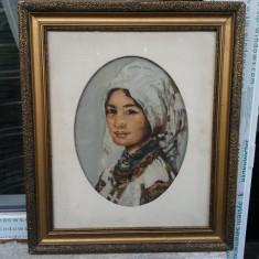 Tablou ulei pe carton nesemnat.Reproducere dupa Grigorescu., Portrete, Impresionism