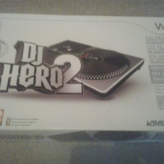 DJ Hero Turntable + Joc Dj Hero 2 - Nintendo Wii, Kit acceosrii