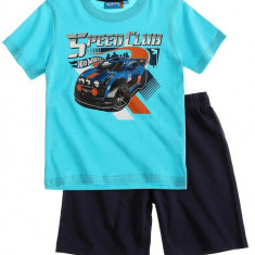 Pijama de vara Hot Wheels albastru