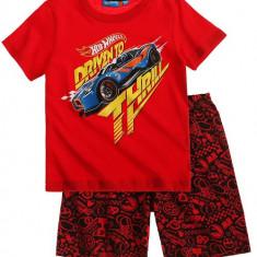 Pijama de vara Hot Wheels rosie