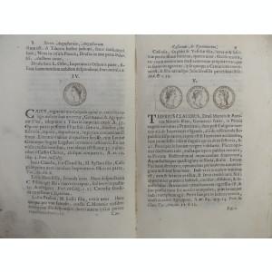 CARTE NUMISMATICA~ LAURENTIO PATAROL - SERIES AUGUSTORUM CAESARUM-VENETIIS-1740*