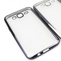 Husa Samsung Galaxy J1 Mini TPU Margine Grey - Husa Telefon Samsung, Transparent, Gel TPU, Fara snur, Carcasa