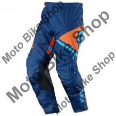 MBS Pantaloni motocross Scott 350 Track, albastru/portocaliu, 36, Cod Produs: 237565145436AU - Imbracaminte moto