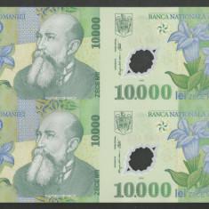 ROMANIA COALA NETAIATA 10000 10.000 LEI 2000 ( 2001 ) Prefix 01 UNC- ISARESCU - Bancnota romaneasca