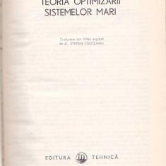 LEON S. LASDON - TEORIA OPTIMIZARII SISTEMELOR MARI - Carte Matematica
