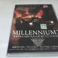 DVD MILLENNIUM 2 FATA CARE S-A JUCAT CU FOCUL SUBTITRARE ROMANA - Film actiune