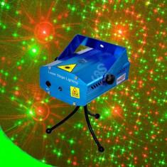Strobolaser si Mini Laser Disco Light QC105 - Stroboscop club