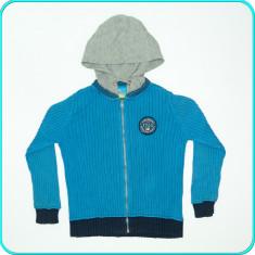 FRUMOASA→ Jacheta—bluza—hanorac, bumbac, TOPOLINO→ baieti | 5—6 ani | 110—116 cm, Marime: Alta, Culoare: Turcoaz