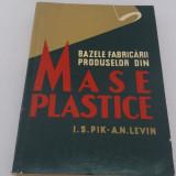 BAZELE FABRICĂRII PRODUSELOR DIN MASE PLASTICE/ I.S. PIK, A.N. LEVIN/ 1957