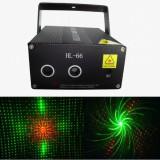 Laser show albastru si rosu cu proiectii 3D - Laser lumini club