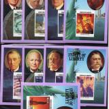 INSULELE VIRGINE BRITANICE 1986 PRESEDINTI AMERICANI - Timbre straine, Nestampilat