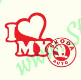 I Love My Skoda_Tuning Auto_Cod: CST-051_Dim: 15 cm. x 11.4 cm.